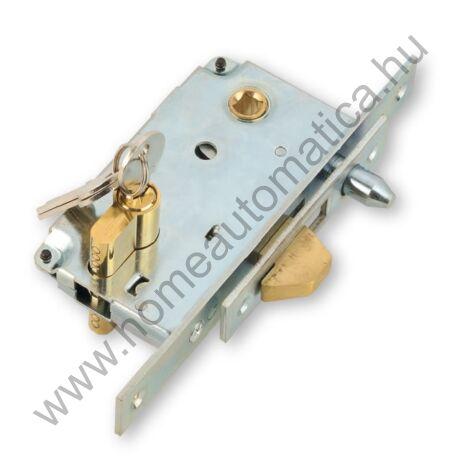 Zárszerkezet tolókapuhoz, cilinderbetéttel, 3 db kulcsal