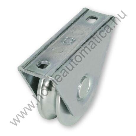 U profilú csavarozható, rászerelhető tolókapu görgő 80 mm