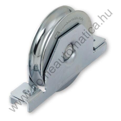 U profilú csavarozható, süllyeszthető tolókapu görgő 80 mm